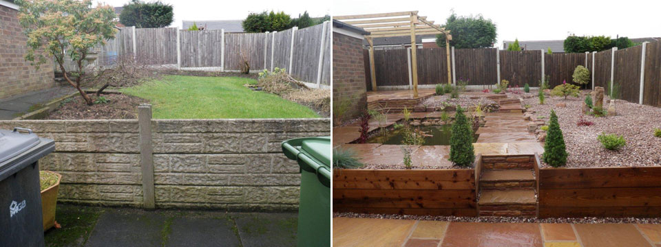 Landscape gardener in fylde wyre and garstang lancashire - Garden design before and after ...